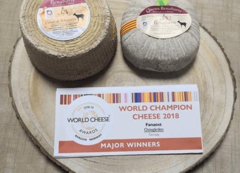 Quesos Benabarre, medalla de bronce en World Cheese Awards 2018